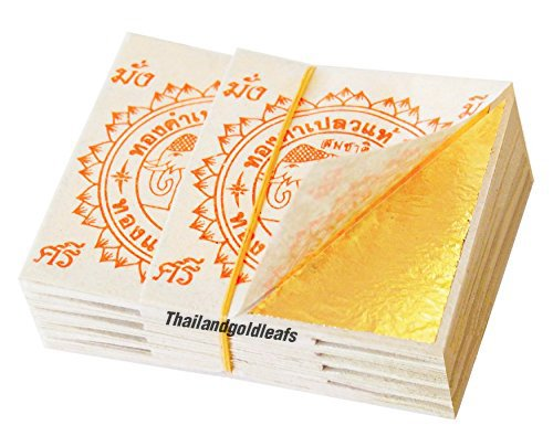 100-edible-gold-leaf-sheets-24k-100-pure-35-x-35-mm-cake-decoration-macaroon-dessert-drink-by-thaila