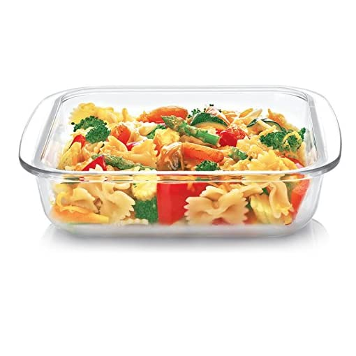 Cello Laura Square Glass Baking Dish, 1.1 Litres, Clear