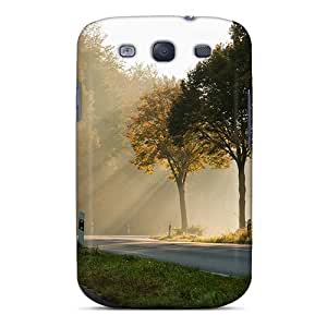 Saraumes TCRbOAa1630gbUrO Case Cover Skin For Galaxy S3 (road Of Shadows Sunrays)