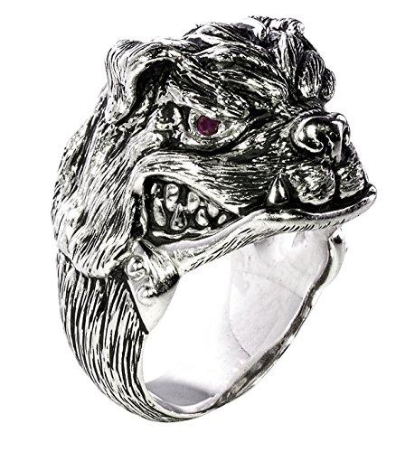 MARINE CORPS BULLDOG Sterling Silver Mens Ring by Ecks-Size 11 (Ring Sterling Silver Bulldog)