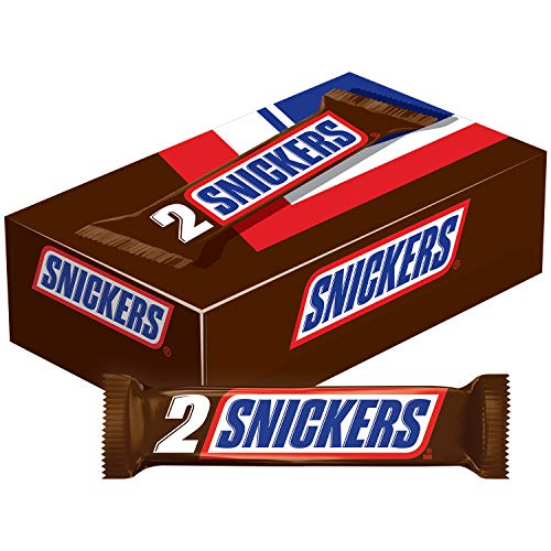 The Greatest Bar Halloween (SNICKERS Sharing Size Chocolate Candy Bars 3.29-Ounce Bar 24-Count)