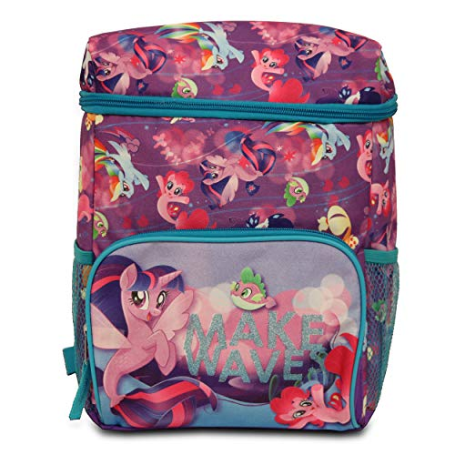 Twilight Lunch - My Little Pony Insulated Cooler Backpacks, Two Mesh Pockets, Adjustable Straps