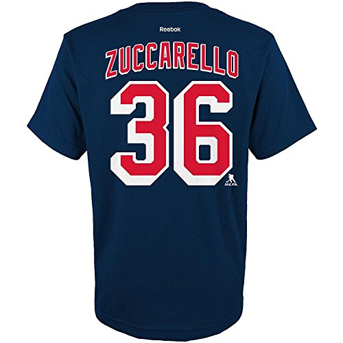 Ryan Youth T-shirt - OuterStuff NHL Youth Team Color Player Name and Number Jersey T-Shirt (Mats Zuccarello, Medium 10/12)