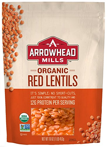 Arrowhead Mills Organic Red Lentils, 16 oz (Packaging May -
