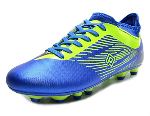 DREAM PAIRS 160861 Men's Sport Flexible Athletic Lace Up Light Weight Outdoor Cleats Football Soccer Shoes Royal N.Green Size 12 (Mens Football Cleat)