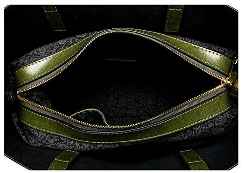 Vera Saierlong Tracolle Pelle Green Donna Borse Army HHqwFU