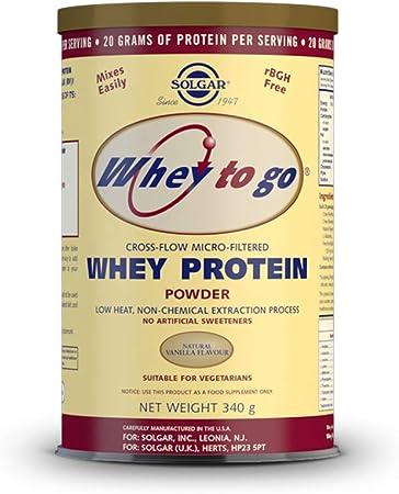 Whey To Go Proteina (Sabor Vainilla) 340 gr de Solgar