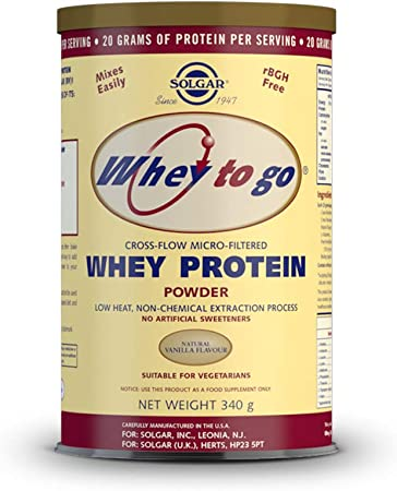 Whey To Go Proteina (Sabor Vainilla) 340 gr de Solgar: Amazon ...