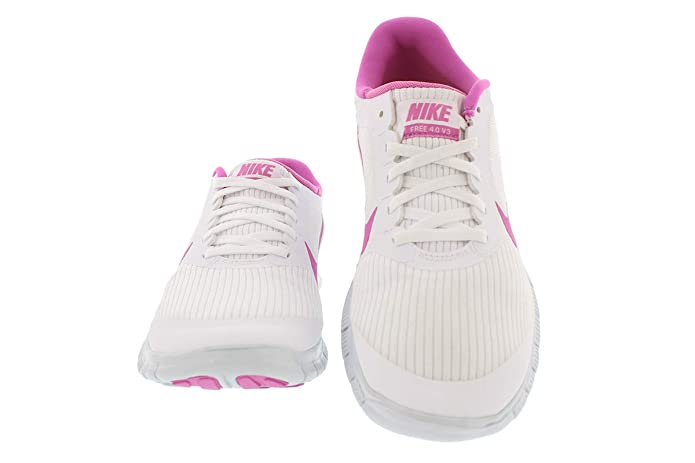 new concept 36f9b 6546c Amazon.com   Nike Free 4.0 V3 580406-160 Women White   Fashion Sneakers