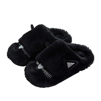 Rojeam Zapatillas Casa Hombre Mujer Invierno Pantuflas Zapatillas de Estar por casa Unisex: Amazon.es: Ropa y accesorios