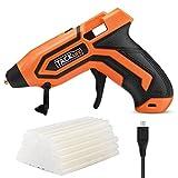hot glue gun cordless - Tacklife PGG01B 3.6V Mini Cordless Glue Gun with 45 Pcs EVA Glue Sticks | 2600mAh Li-ion Battery Powered Flexible Trigger Overheating Protection and Heating up Quickly with Temp and Battery Indicators