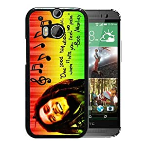Bob Marley 01 Black Fantastic Style Design HTC ONE M8 Case