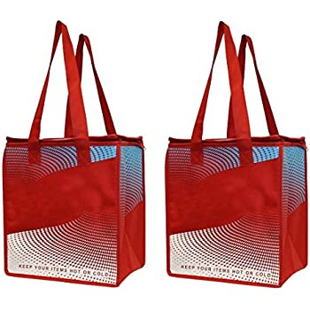 Amazon Com Doordash Red Insulated Large Shopping Tote For