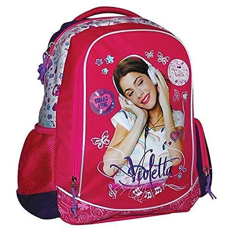0fcd868ef9 Zaino scuola ovale 4 tasche Violetta Disney -: Amazon.it: Sport e ...