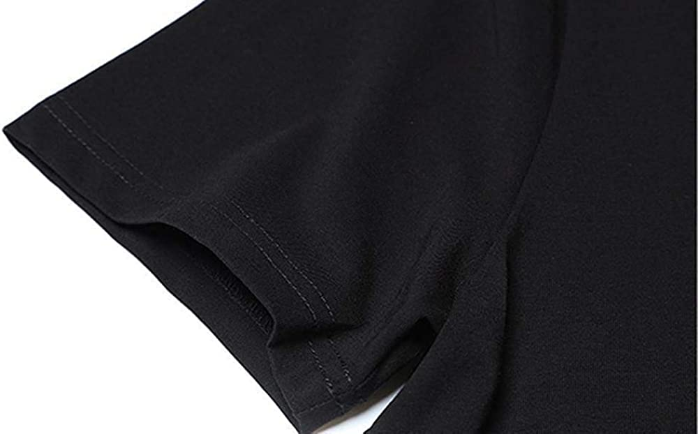 NIVKOU 62 Youth Kids Cotton T-Shirts Summer Slim-fit Printed Fashion Tee