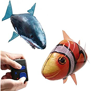 Air swimmers remote control flying shark toys for Remote control flying fish
