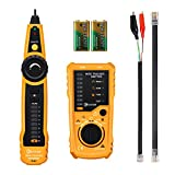 Cable Tracker, EIVOTOR Professional RJ45 RJ11 Wire Tracker Line Finder Cable Tester for Network Cable Collation, Telephone Line Test, Continuity Checking