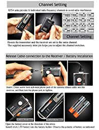 RFN-4 (RF-911) Wireless Remote Shutter Release Cable for Canon EOS DSLR Camera with N3 (RS-80N3) Connector - for Canon 6D, 5D, 5D Mark II, 5D Mark III, 1D, 1Ds, Mark II, III, IV, 1DX, 7D, 60D, 50D, 40D, 30D, 20D, 10D