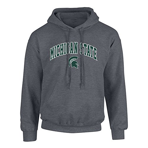 - Elite Fan Shop NCAA Men's Michigan State Spartans Hoodie Sweatshirt Dark Heather Arch Michigan State Spartans Dark Heather X Large