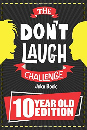 "This is a photo of a joke book with words 'Don't Laugh Challenge"" printed on the black cover."