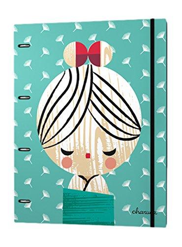 Charuca 88191187 - Carpetas con recambio de hojas con diferentes diseños escolares, A4: Amazon.es: Oficina y papelería