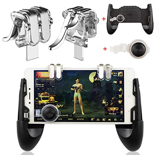 (EAONE Mobile Game Controller, Sensitive Shoot and Aim Trigger Fire Buttons Joystick Fits iOS and Android 4.7-6.44 inch Cellphone)