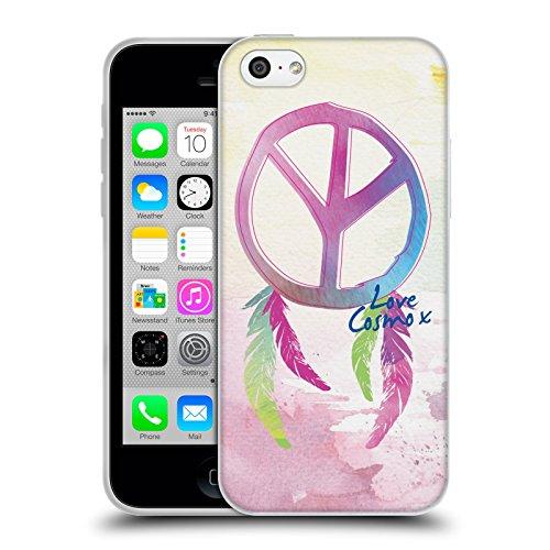 Official Cosmopolitan Peace Boho Soft Gel Case for Apple iPhone 5c