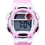 Hiwatch TM Waterproof 30M Cold-Light Easy Reader Time Teacher Lcd Digital Sports watch for Children Girls Boys