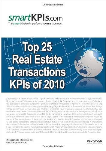 Lataa PDF-tiedostoja ilmaiseksi Top 25 Real Estate Transactions KPIs of 2010 PDF iBook