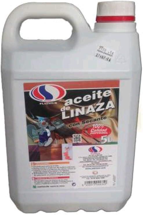 ACEITE DE LINAZA PLAINSUR 5 L CON SECANTE: Amazon.es: Bricolaje y herramientas