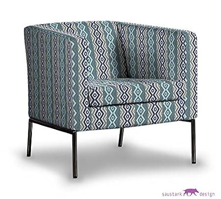 saustark design marbella cover for ikea klappsta armchair blue