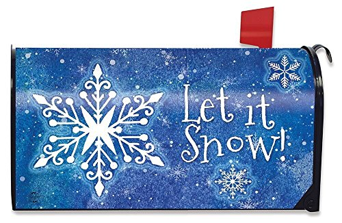 (Briarwood Lane Snowflakes Winter Magnetic Mailbox Cover Seasonal)