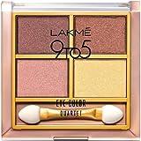 Lakme 9 to 5 Eye Color Quartet Eye Shadow, Desert Rose, 7g