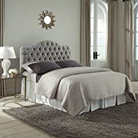 Fashion Bed Martinique Wood Upholstered Headboard in Gray - Twin