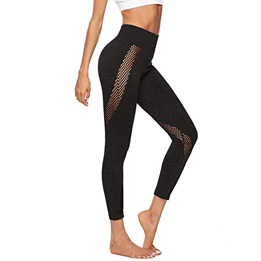 2064f98f487b6 Amazon.com: Women Yoga Athletic Pants Plus Size Workout Vintage Print  Leggings High Waist Fitness Sport Running Pant: Clothing