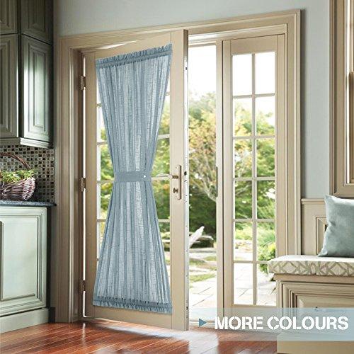 blue door panel curtains 4 - Door Panel Curtains