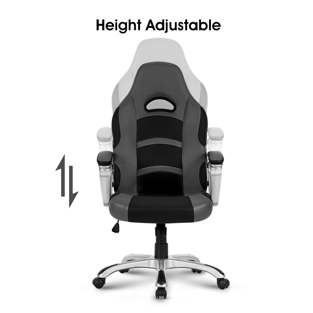 ferrari office chair. Amazon.com: LANGRIA High-Back Racing Style Gaming Chair Faux Leather Ergonomic Computer Executive Office With Padded Armrest, Adjustable Height, Ferrari