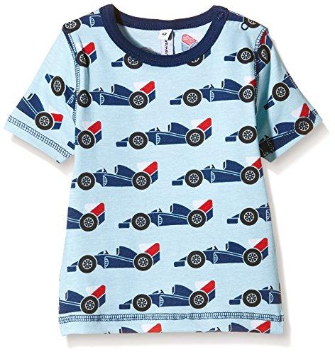Maxomorra Unisex Baby T-Shirt Gr. 92, Blau - Blau