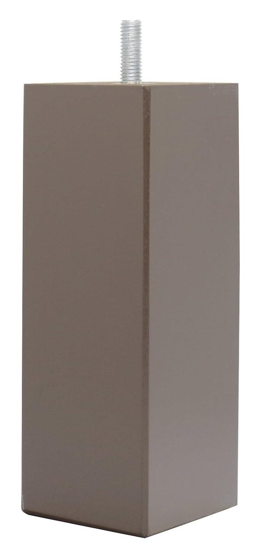 La Fabbrica di Piedi am20170110Gioco di 4Piedi di Letto Quadrati in Legno Laccato Cioccolato 15x 5, 5x 5, 5cm La Fabrique de Pieds 13141_BlackPatent-45