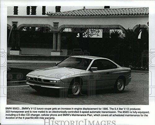 1994 Press Photo 1995 BMW 850Ci V-12 luxury coupe increased engine displacement