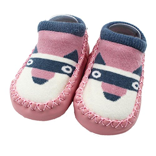 DIGOOD Suit for 0-4 Years Old Kids, Boys Girls Cute Anti-Slip Solid Warm Slipper Shoes Boot Socks