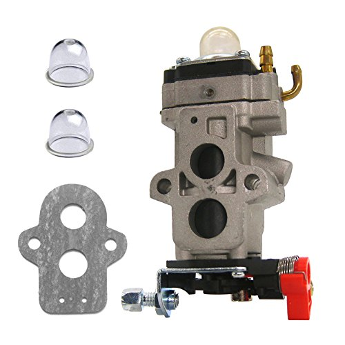 FitBest Carburetor with Primer Bulb Gasket for Walbro WYA-79 WYA-79-1 Husqvarna 150BT 350BT Backpack Leaf Blower Carb (Bulb 1 Leaf)