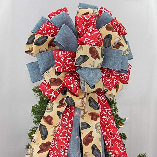 estern Christmas Tree Topper Bow - 14