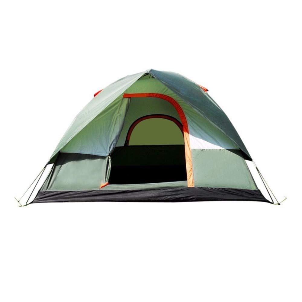 Ashuang Camping extérieur imperméable Polyester Oxford Tissu Double Couches Tente Portable 4 Personnes Voyager Tente Grimpante A1 -