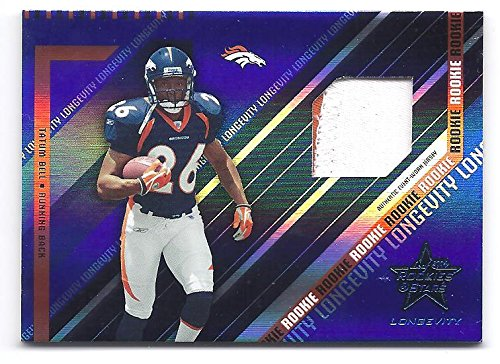 TATUM BELL 2004 Leaf Rookies & Stars #265 Longevity Sapphire PARALLEL JERSEY PATCH Rookie Card RC Numbered to only 75 Made! Denver Broncos Football