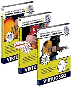 Amazon.com: Virtuosso Electric Guitar Improvisation Method Vol.2 (Curso De Improvisación Guitarra Eléctrica Vol.2) SPANISH ONLY: Musical Instruments
