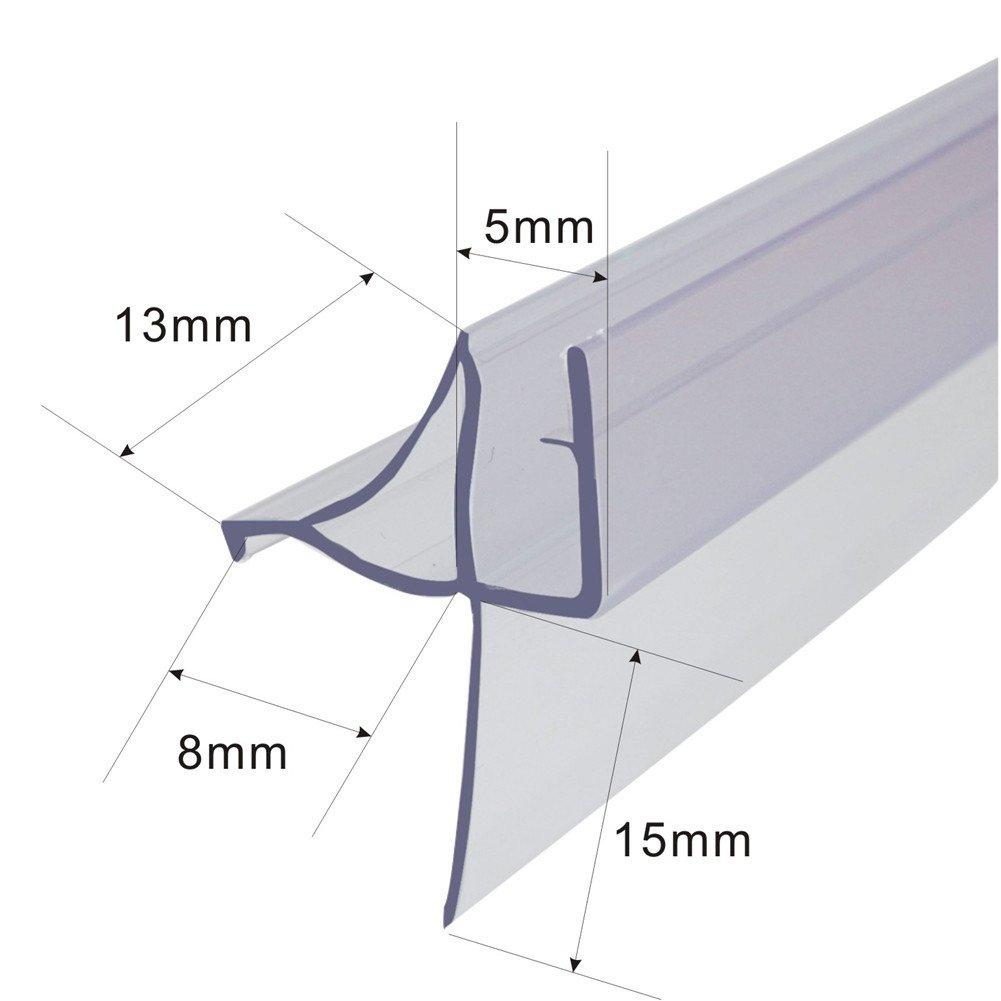 Mfyo Frameless Shower Door Bottom Seal For 316 Inch Glass 36 Inch