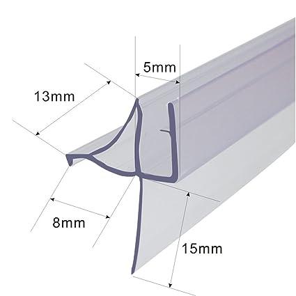 Frameless Shower Door Bottom Seal For 316 Inch Glass 36 Inch Long