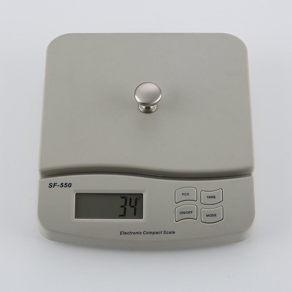 KES SOLID METAL Cabinet Hardware Round Mushroom Knob Brushed Nickel 25 Pack HCK300-2-P25