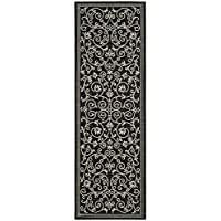 Safavieh Courtyard Collection CY2098-3908 Black and Sand Indoor/ Outdoor Runner (2'3' x 14')